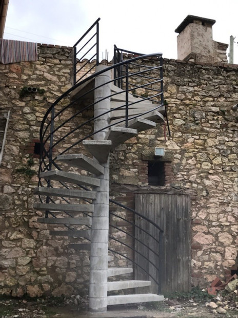 Escalier beton Helicoidal