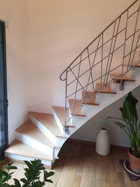 Escalier béton bois