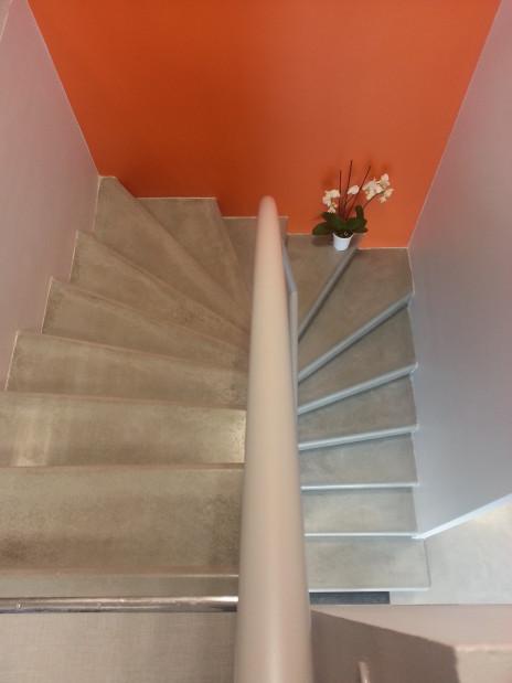 Escalier béton d'atelier vitrifié